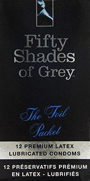 Fifty Shades Of Grey, Ltd Fifty Shades of Grey Foil Packet Condoms (12/pk)