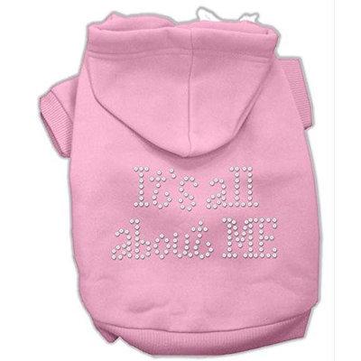 Mirage Pet Products 5403 XSPK Its All About Me Rhinestone Hoodies Pink XS 8