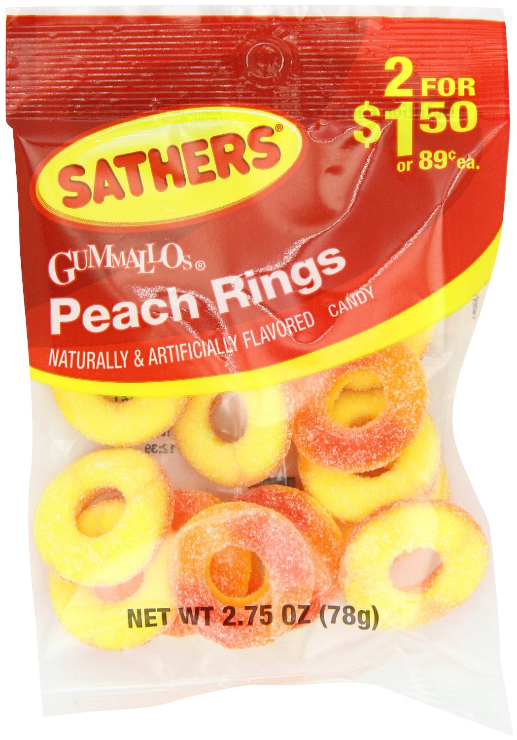Sathers Trolli Peach Rings