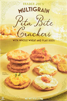 TRADER JOE'S MULTIGRAIN® Pita Bite Crackers With Whole Wheat And Flax Seeds