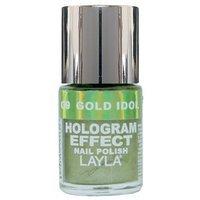 Layla Cosmetics Layla Hologram Effect Nail Polish in GOLD IDOL