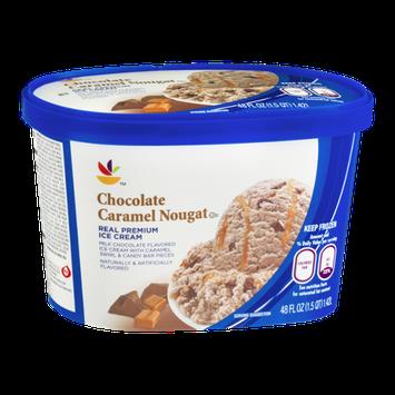 Ahold Real Premium Ice Cream Chocolate Caramel Nougat