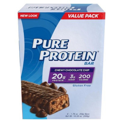 Pure Protein Bars 6-pk. - Chewy Chocolate Chip (10.56 oz.)