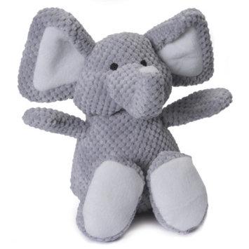 goDog Checkers Elephant Squeaker Dog Toy