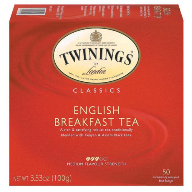 Twinings Classics Naturally English Breakfast Tea -- 50 Tea Bags