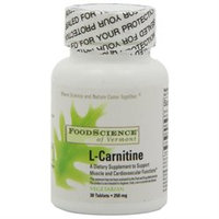 FoodScience of Vermont L-Carnitine - 250 mg - 30 Tablets