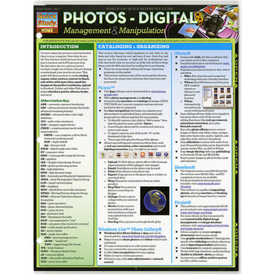 Quickstudy BarCharts Quick Study Reference Guide, Photos Digital Management and Manipulation
