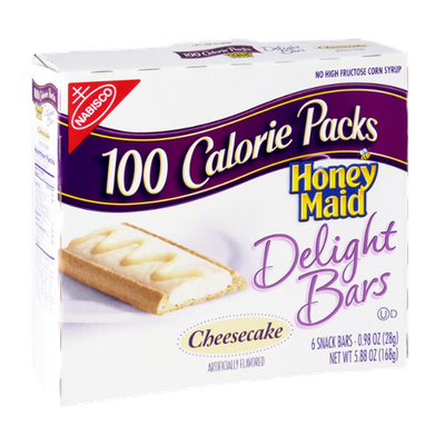 Nabisco 100 Calorie Packs Honey Maid Cheesecake Delight Bars