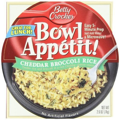 Betty Crocker Bowl Appetit, Cheddar Broccoli Rice, 2.6-Ounce Bowls (Pack of 12)