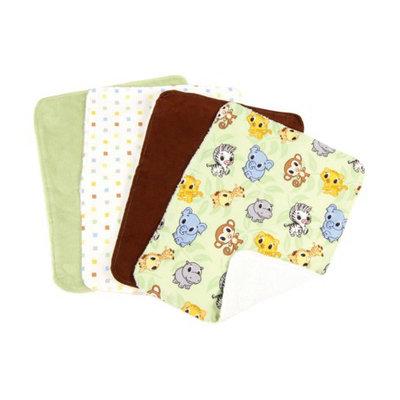 Trend Lab 8 Pc. Bib and Burp Cloth Set - Chibi Zoo by Lab