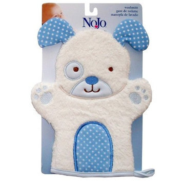 Nojo Character Bath Collection 3D Character Applique Woven Terry Washmitt, Puppy
