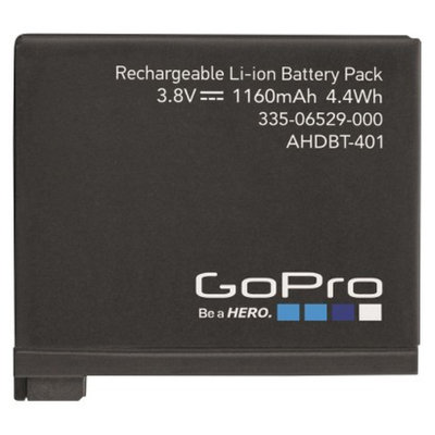 GoPro Rechargebable Camcorder Battery - Black (AHDBT-401)