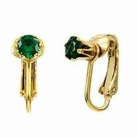 Emitations Deenas Clip On Earrings- May Birthstone