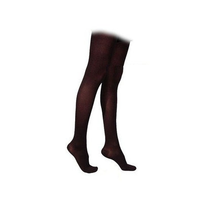 Sigvaris 230 Cotton Series 20-30 mmHg Women's Closed Toe Thigh High Sock Size: Medium Long, Color: Black 99