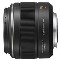 Panasonic H-X025 Lumix G 25mm f/1.4 Telephoto Zoom Lens - Black