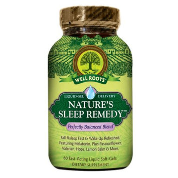 Well Roots Nature's Sleep Remedy, Softgels, 60 ea
