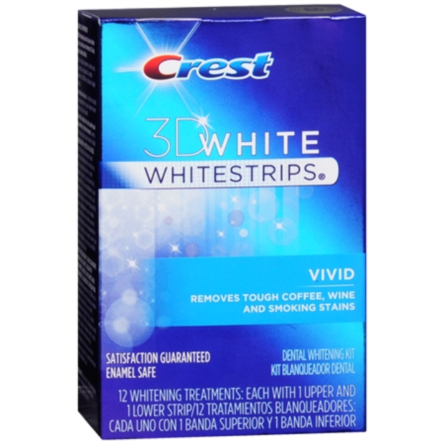 Crest 3D White Whitestrips Classic Vivid - Teeth Whitening Kit, 12 ea