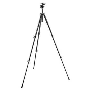 Manfrotto 290 Series Camera Tripod with 3-way Head - Black (MK293A3-