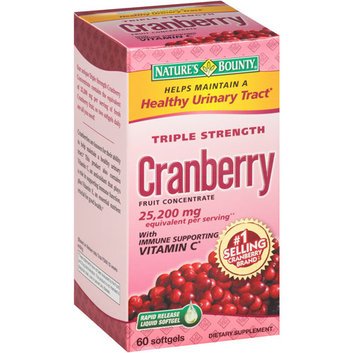 Nature's Bounty Triple Strength Cranberry Fruit Concentrate Softgels