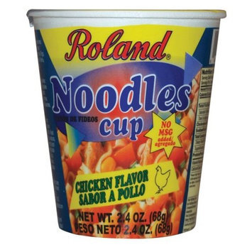 Roland Chicken Flavor Noodles Cup, 2.4-Ounce Cups (Pack of 12)