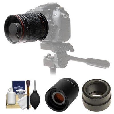 Vivitar 500mm f/8.0 Mirror Lens with 2x Teleconverter (=1000mm) + Accessory Kit for Sony Alpha A7, A7R, A7S, A3000, A5000, A6000, NEX-5T, 6, 7 Cameras