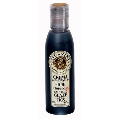 M5 Corporation Italian Natural Flavored Fig Balsamic Glaze from Mussini, 16.9 Ounces