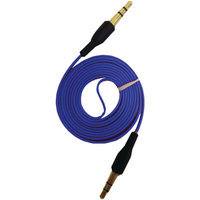 iEssentials IE-AUX-BL 3.5mm Flat AUX Cable, 3.3', Blue