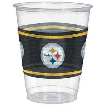 Amscan 422348 NFL Pittsburg Steelers Plastic Cups - Pack of 150