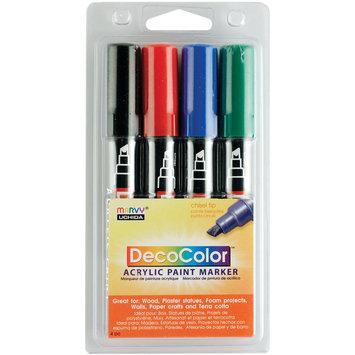 Uchida Deco Color Acrylic Set 4/Pkg-Black/Red/Blue/Green