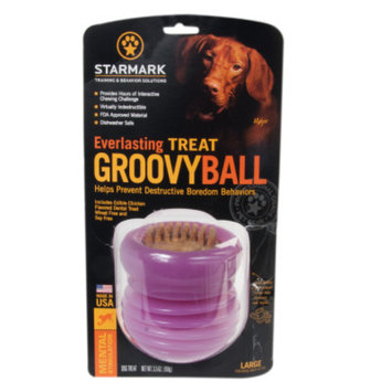Starmark Everlasting Groovy Ball Treat Dispenser Dog Toy
