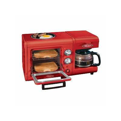Nostalgia Electrics BSET100CR 3-in-1 Breakfast Station