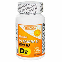 Deva Vegan Vitamins Deva Vegan Vitamin D 800 IU 90 Tablets