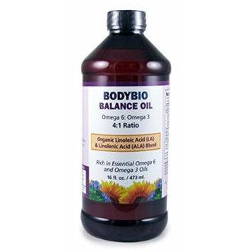 BodyBio , Balance Oil , Omega 3 , Omega 6 , 16oz.