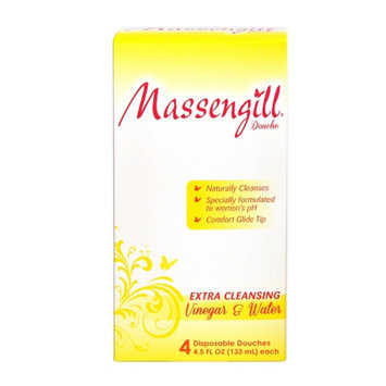 Massengill Extra Cleansing Disposable Douche, Vinegar and Water, 4 ea