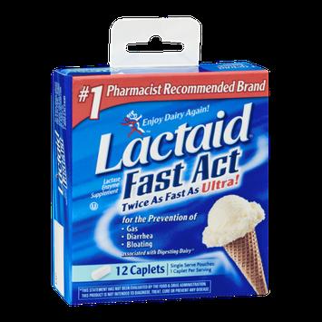 Lactaid Fast Act Lactase Enzyme Supplement Caplets - 12 CT