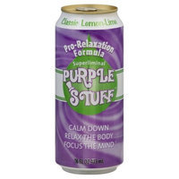 Purple Stuff Lemon Lime Classic Beverage, 16-Ounce (Pack of 12)