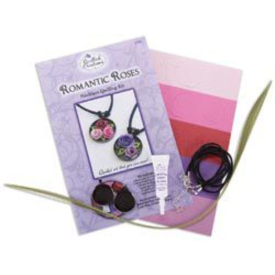 Quilled Creations 479105 Quilling Kit-Romantic Roses Necklace