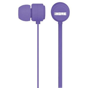 iHome Rubberized Earbuds - Purple
