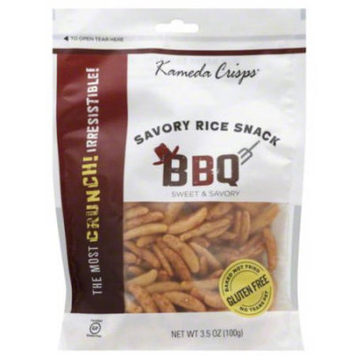 Kameda Crisps BBQ Savory Rice Snack, 3.5 oz (Pack of 12)