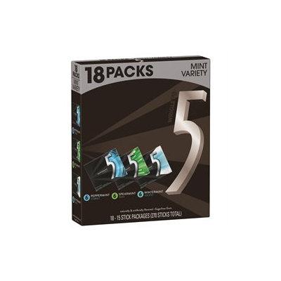5 Gum Variety Pack (15 stick pkgs, 18 ct.)