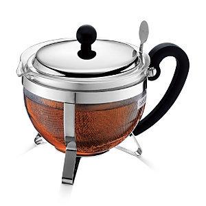 Bodum Chambord Tea Pot - Stainless Steel, 34 fl. oz.