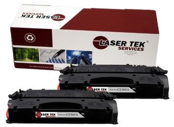 Laser Tek Services HP CE505A (05A) 2 Pack Standard Yield Compatible Replacement Toner Cartridges