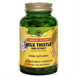 Solgar - Milk Thistle Herb Extract - 60 Vegetarian Capsules