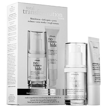 philosophy no reason to hide transforming serum and perfecting moisturizer spf 30 duo, 1 set