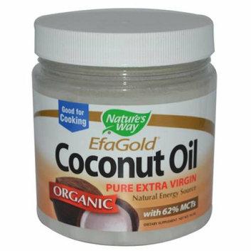 Natures Way 783290 EfaGold Coconut Oil - 16 Fl. Oz.