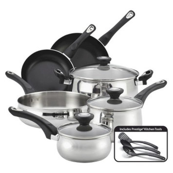 Farberware NT Farberware New Traditions 12 Piece Stainless Steel Cookware Set
