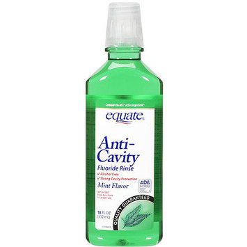 Equate Anti-Cavity Mint Flavor Fluoride Rinse, 18 fl oz