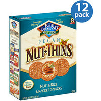 Blue Diamond Natural Pecan Nut-Thins Nut & Rice Cracker Snacks