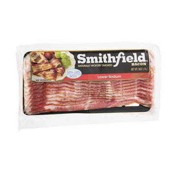 Smithfield Bacon Naturally Hickory Smoked Lower Sodium