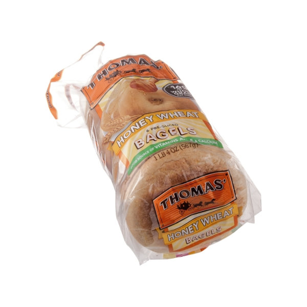 Thomas' Honey Wheat Bagels - 6 CT